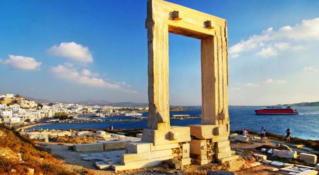 Portara Gate Naxos Island Greece